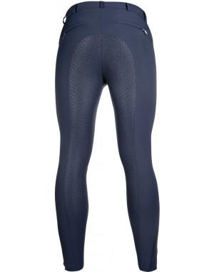Pantalon equitation homme - Sportive - HKM fond 1/1 en silicone 12583