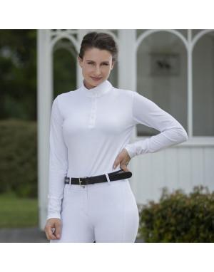 Polo de concours femme manches longues - Style - HKM