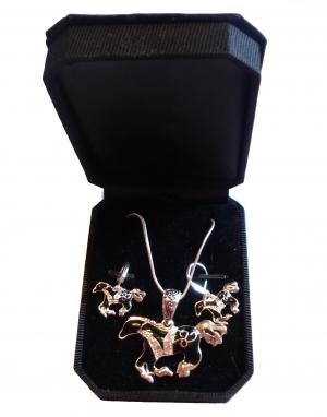 Parure bijoux motif cheval baroque HKM