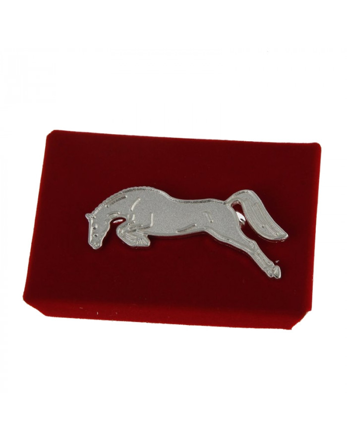 Broche pince à cravate cheval d'obstacle 901030930